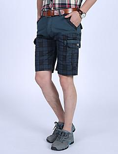 billige Herrebukser og -shorts-Herre Grunnleggende Shorts Bukser Ruter