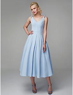 billiga Cocktailklänningar-Prinsessa Smala axelband Telång Elastan Bal Klänning med Draperad av TS Couture®
