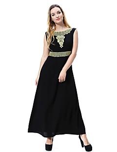 baratos Vestidos-Mulheres Vintage balanço / Abaya / Kaftan Vestido Médio
