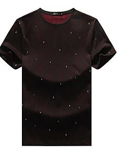 cheap Men's New Ins-Men's T-shirt - Polka Dot Round Neck / Short Sleeve