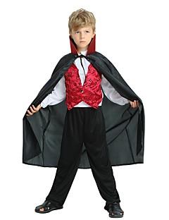 billige Barnekostymer-Cosplay Kostume Gutt Barne Halloween Halloween Karneval Barnas Dag Festival / høytid Polyester Drakter Svart Ensfarget Halloween