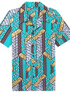 billige Herremote og klær-Bomull Skjorte Herre - Tribal Strand / Kortermet