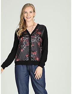 billige Skjorte-Dame - Blomstret Trykt mønster Vintage / Kineseri Skjorte