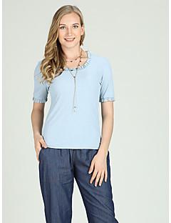 Χαμηλού Κόστους Γυναικείες Μπλούζες-Γυναικεία T-shirt Ενεργό / Βασικό Μονόχρωμο