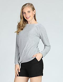 billige Dametopper-Tynn T-skjorte Dame - Ensfarget, Blondér Grunnleggende / Langermet / Vår / Sommer