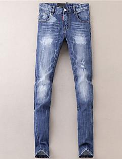 billige Herrebukser og -shorts-Herre Aktiv Jeans Bukser Ensfarget