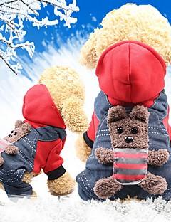 billiga Hundkläder-Gnagare / Hund / Katt Kappor Hundkläder Djur / Figur Gul / Röd Cotton Kostym För husdjur Dam Sport och utomhus / Huvudvärmare