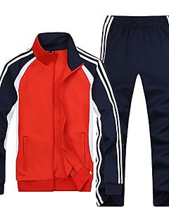 ราคาถูก เสื้อฮู้ดและเสื้อกันหนาว-สำหรับผู้ชาย พื้นฐาน กางเกง - ลายแถบ สีน้ำเงิน / แขนยาว