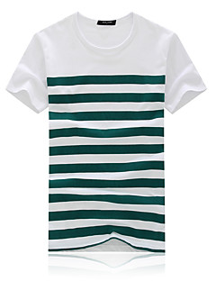 billige Herremote og klær-T-skjorte Herre - Ensfarget, Dusk Vintage Svart og hvit