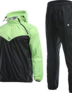 billige Løbetøj-Herre Kraftig træningsdragt - Sort / Rød, Grå, Sort / Blå Sport Tøjsæt Løb, Fitness, Træningscenter Sportstøj Vindtæt, Påførelig Mikroelastisk