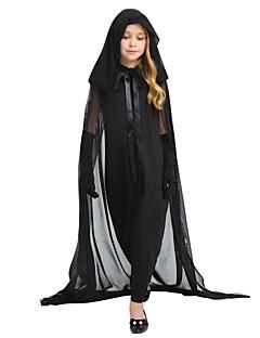 billige Barnekostymer-Cosplay Kostume Jente Barne Halloween Halloween Karneval Barnas Dag Festival / høytid Halloween-kostymer Drakter Svart Ensfarget Halloween