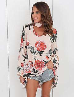 billige Kvinde Toppe-Grime Løstsiddende Dame - Blomstret / Geometrisk I-byen-tøj Bluse