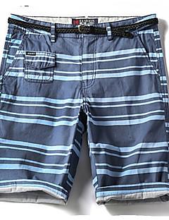 billige Herrebukser og -shorts-Herre Grunnleggende Shorts Bukser Stripet / Fargeblokk