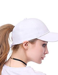 billige Hatter til damer-Dame Aktiv / Ferie Baseballcaps - Uthult, Ensfarget
