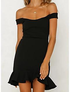 Χαμηλού Κόστους Off Shoulder-Γυναικεία Εξόδου Λεπτό Θήκη Φόρεμα Πάνω από το Γόνατο Ώμοι Έξω