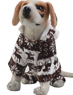 billiga Hundkläder-Hund / Katt Jumpsuits Hundkläder Djur / Brittisk Kaffe / Blå / Rosa Plysch Kostym För husdjur Herr / Dam Uppvärmning / Jul