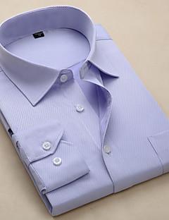 billige Herremote og klær-Skjorte Herre - Ensfarget / Stripet Forretning / Grunnleggende