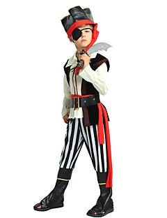 baratos Fantasias de Crianças-Pirata Roupa Para Meninos Dia Das Bruxas / Carnaval / Dia da Criança Festival / Celebração Trajes da Noite das Bruxas Preto Sólido / Halloween Dia Das Bruxas