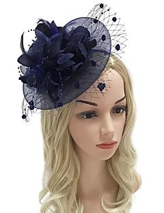 billige Hårpynt til damer-Dame Vintage / Elegant Hårbånd / Hårklemme / fascinator - Blomst / Netting, Ensfarget