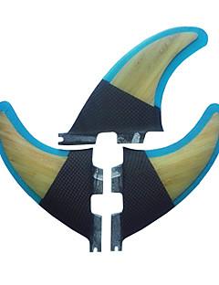 Χαμηλού Κόστους Surfing and Bodyboarding-Srfda Φινάκια Ξύλινος / Υαλοβάμβακας Γρηγορη Απελευθέρωση - Σανίδα του σερφ με κουπί (SUP) / Μακριές σανίδες / Σανίδες Σέρφινγκ 3 pcs
