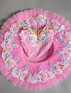 tanie Stroje baletowe-Balet Suknie Dla dziewczynek Wydajność Spandeks Zgnioty Bez rękawów Tutu