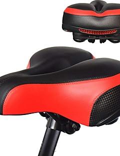 billige Setestolper og sadler-Sykkelsete Ekstra Bred Komfort Hynner PU Leather silica Gel Sykling Vei Sykkel Fjellsykkel Svart Rød Blå