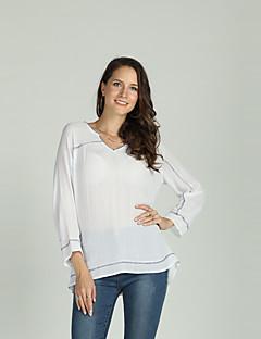 Χαμηλού Κόστους Γυναικείες Μπλούζες-Γυναικεία Μπλούζα Βασικό Μονόχρωμο