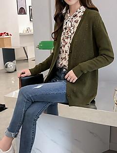 tanie Swetry damskie-Damskie Podstawowy Rozpinany Jendolity kolor