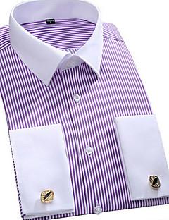 billige Herremote og klær-Skjorte Herre - Stripet Grunnleggende