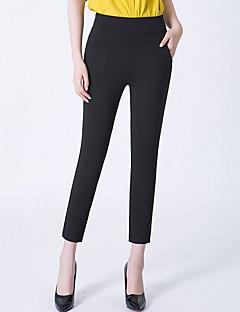 baratos Leggings para Mulheres-Mulheres Diário Básico Legging - Sólido Cintura Alta