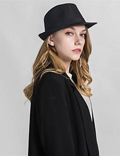 billige Hatter til damer-Unisex Grunnleggende Fedora Ensfarget