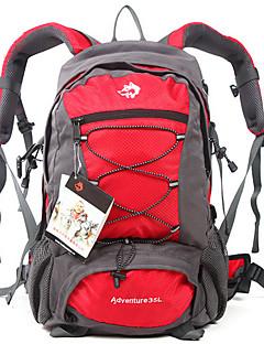 billiga Ryggsäckar och väskor-Jungle King 35 L Ryggsäckar - Bärbar, Mateial som andas Utomhus Camping, Klättring, Skidor Nylon Röd, Grön, Blå