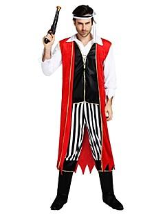 billige Voksenkostymer-Pirates of the Caribbean / Pirat Drakter Herre Halloween / Karneval / Barnas Dag Festival / høytid Halloween-kostymer Svart Ensfarget / Stripet / Halloween Halloween