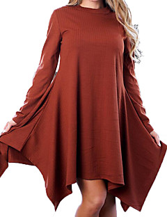tanie Sweater Dresses-Damskie Wyjściowe Zabytkowe Dzianina Sukienka Przed kolano