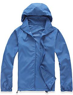 tanie Odzież turystyczna-Unisex Płaszcz przeciwdeszczowy / Wiatrówka turystyczna Na wolnym powietrzu Odporność na wiatr, Ochrona przed deszczem, Szybkie wysychanie Top Wodoodporny Kemping i turystyka / Na zewnątrz / Chodzenie