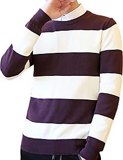 baratos Suéteres & Cardigans Masculinos-Homens Básico Pulôver - Estampa Colorida