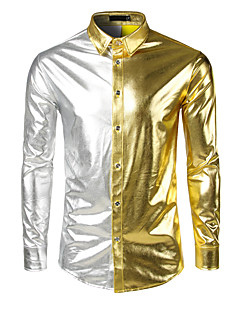 billige Herremote og klær-Skjorte Herre - Ensfarget, Lapper Gatemote / Punk & Gotisk