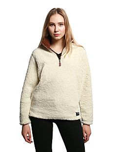 Χαμηλού Κόστους Γυναικεία πουλόβερ σε μεγάλα μεγέθη-Γυναικεία Βαμβάκι Φαρδιά Πουλόβερ - Μονόχρωμο Όρθιος Γιακάς / Φθινόπωρο / Χειμώνας