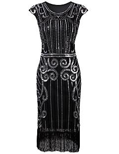 billige Paljettkjoler-Tube / kolonne Besmykket Telang Sateng Cocktailfest Kjole med Paljett / Plissert av TS Couture®