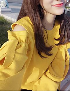 tanie Swetry damskie-damski sweter z długim rękawem - jednolity okrągły dekolt