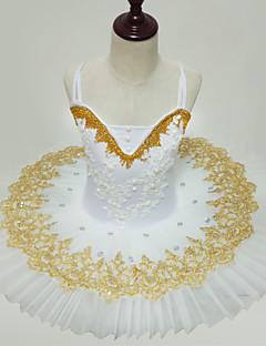 tanie Stroje baletowe-Balet Suknie Dla dziewczynek Wydajność Spandeks Marszcząca się Bez rękawów Tutu