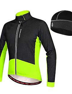 billige Sykkelklær-WOSAWE Alle Sykkeljakke Sykkel Sommer Fleecejakker / Fleecer / Jersey / Hatt Hold Varm Lapper Svart / Rød / Grønn / Svart Sykkelklær / Elastisk