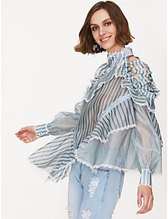Χαμηλού Κόστους Γυναικείες Μπλούζες-γυναικεία μπλούζα - ριγέ γύρω από το λαιμό