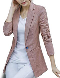 Недорогие Женские блейзеры и куртки-Жен. На выход Блейзер Воротник Питер Пен Однотонный