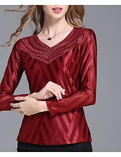 Χαμηλού Κόστους Μπλούζα-Γυναικεία Μπλούζα Βασικό Μονόχρωμο