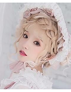 billiga Lolitaaccessoarer-Lolita Accessoarer Huvudbonad Söt Lolita Dam Grön / Rosa lolita tillbehör Rosett Huvudbonad Polyster Halloweenkostymer