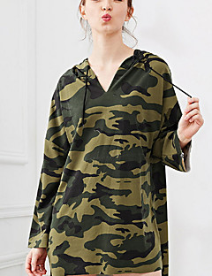 tanie Damskie bluzy z kapturem-Damskie Podstawowy Bluza z Kapturem - Kamuflaż