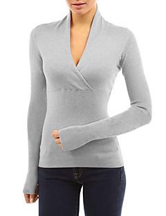 preiswerte Damen-Oberteile-Damen Solide - Grundlegend / Street Schick T-shirt