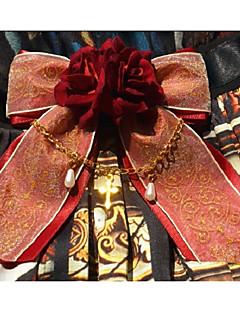 billiga Lolitamode-Vintage Elegant Dam Rosa / Fuschia / Bläck blå lolita tillbehör Blommig Midje accessoar Legering Halloweenkostymer