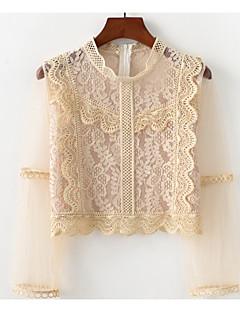 Χαμηλού Κόστους Γυναικείες Μπλούζες-Γυναικεία T-shirt Βασικό Μονόχρωμο Patchwork